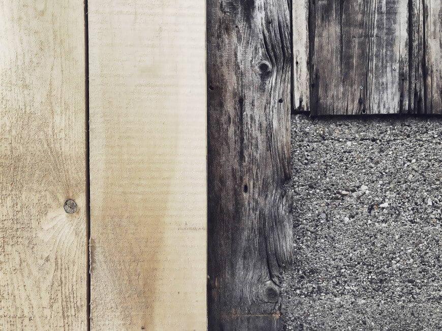 różne rodzaje drewna z bliska