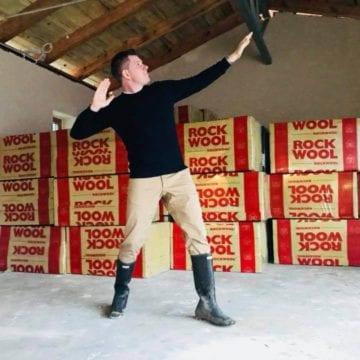 Filip Chajzer na budowie własnego domu