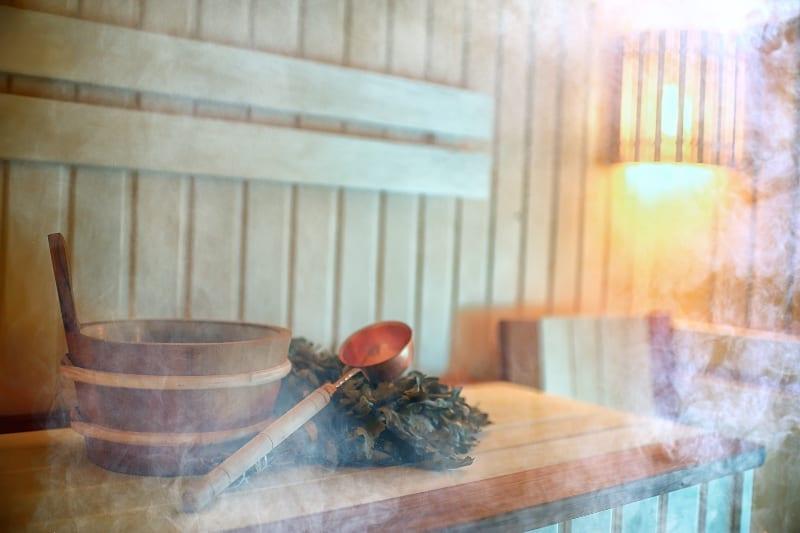 zaparowana sauna