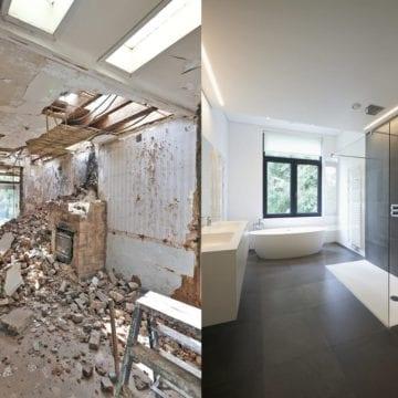 remont łazienki - przed i po