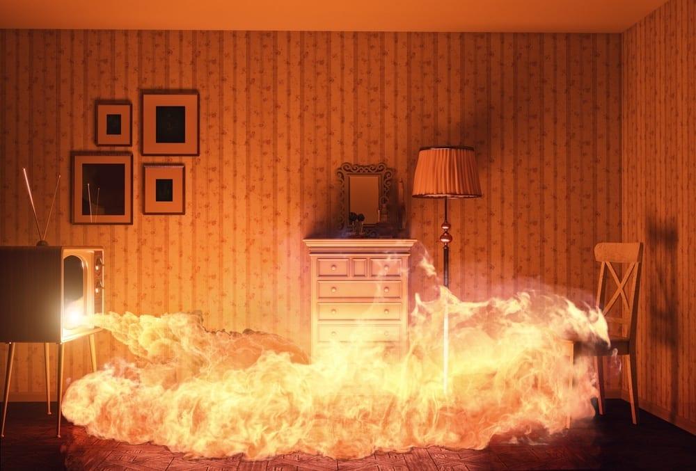 pożar w mieszkaniu