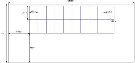 przykład posadowienia modułów fotowoltaicznych
